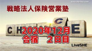 SHE本講座 2020年12月合宿(2日目)